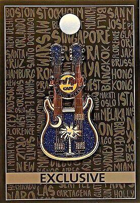 Hard Rock Cafe Myrtle Beach Core Palmetto Pin Doubleneck Guitar 2016 New # 89256
