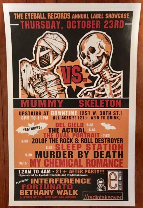 Vintage My Chemical Romance Bullets Era Eyeball CMJ Show Poster Murder By Death