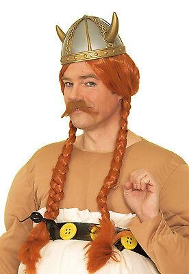 Herren Perücke zu Kostüm WIKINGER Zöpfe irish rot Gallier Wickinger Fashing NEU