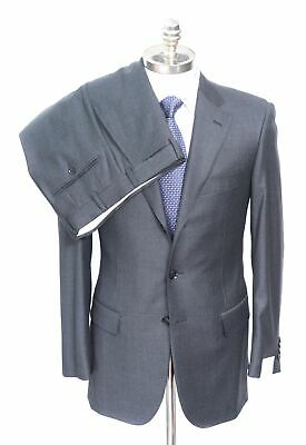 NWT PAL ZILERI Gray Loro Piana Winter Tasmanian Super 130's Wool Suit 48 8R 38 R