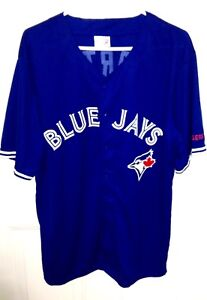 Toronto Blue Jays Martin Number 55 Button Down Jersey Size XL S