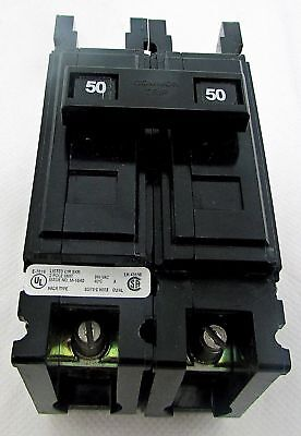 Cutler Hammer Qc2050h 2 Pole 50 Amp Quicklag C 240v Circuit Breaker New