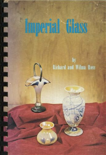 Imperial Art Glass Types - Free Hand Nuart Jewels Cut Etc / Scarce Book + Values