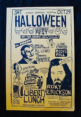 1st Annual Austin Halloween Fest~ROKY ERICKSON & AL LEWIS (The Munsters) Poster