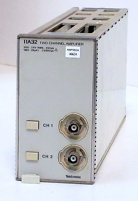 Tektronix 11a32 Amplifier Plug-in - 400 Mhz 2 Channels Switchable 1m50