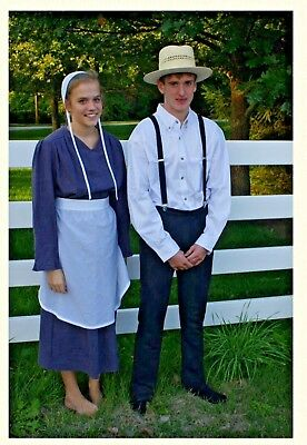 Amish Man's Costume Black Suspenders](Amish Man)