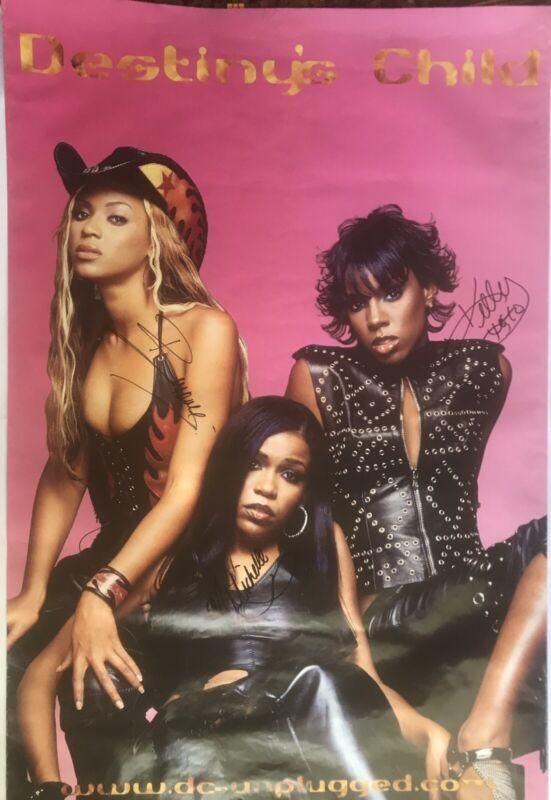 Destiny's Child Rare Autographed Poster • Signed by Beyoncé, Kelly, & Michelle