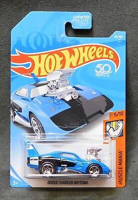 2018 Hot Wheels Car 116/365 Dodge Charger Daytona - E Case