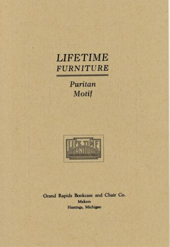 Arts Crafts Mission Lifetime Furniture - History Development / Scarce Book