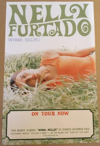 NELLY FURTADO Rare 1998 TOUR PROMO POSTER for Whoa CD USA 11x17 NEVER DISPLAYED