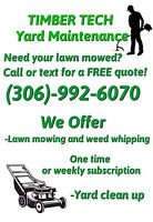 Lawn mowing and yard cleanup