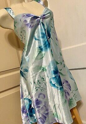 LA Intimates Sexy Sissy Blue Floral Keyhole Front Chemise Crossdress 3X