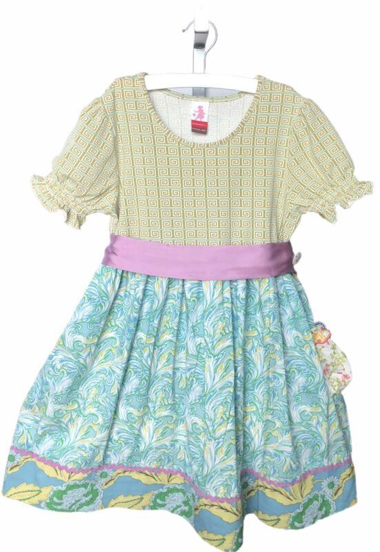 Matilda Jane Serendipity Maybeline Dress Silk Ribbon Girls Size 8 EUC