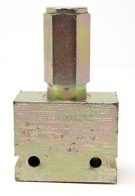 Shoemaker Inc Hydraulic Relief Valve 810-348c Body Cartridge 5381