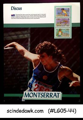 MONTSERRAT - 1988 OLYMPIC GAMES DISCUS THROW PANEL MNH for sale  Shipping to India
