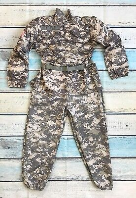 Hallow's Eve US Army Soldier 7-8 Girls HALLOWEEN Padded Camouflage Outfit - Army Girl Outfit Halloween