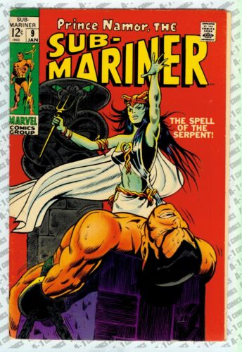 Sub-Mariner #9 (1969), Fine Minus (5.5) ~Thomas ~ Marvel Comics