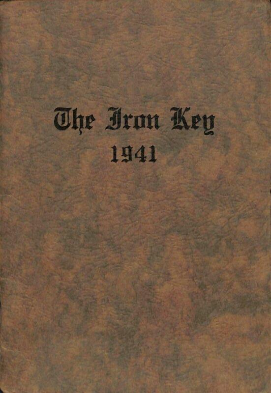 1941 Iron Key Zeta Theta Gamma Fraternity Parsons College Fairfield IA Booklet