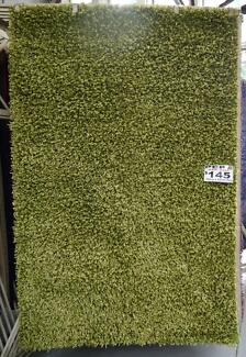 New Veronica Lime Green Polyester Shag Pile Rug 155x225 cm