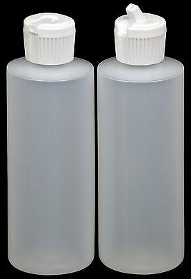 Plastic Bottle w/White Turret Lid, 4-oz., 6-Pack, New