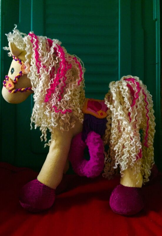 Soft Stuffed Horse With Movable Legs! Adorable! Ships Free In The USA!