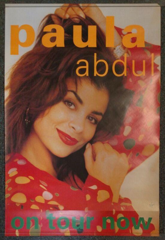 Paula Abdul On Tour 1991 PROMO POSTER