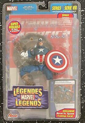 Marvel Legends Toy Biz Captain America Series VIII 8 MISP RARE French Packaging