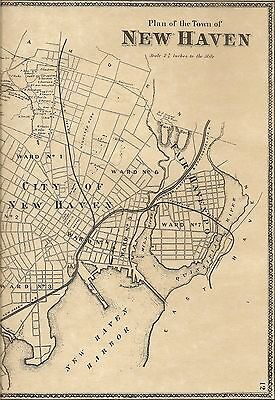 New Haven Fairhaven Westville CT 1868 Maps with Land owners Names Shown