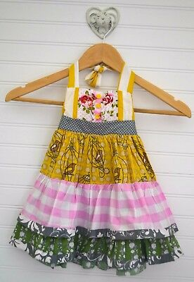 Little Girls BE GIRL Clothing Sz 18m Patchwork Tiered Ruffle Halter Dress  (Be Girl Clothing)