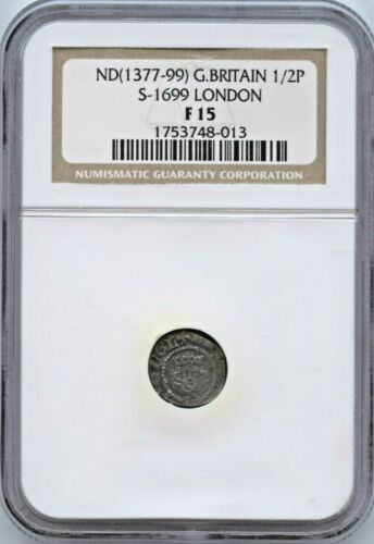 Richard II (1377-99) S-1699 London - NGC F15 England