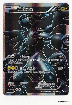 Pokemon Cards - Zekrom 114/114 - 5TH GEN BLACK & WHITE - FULL ART - HOLO - TCG