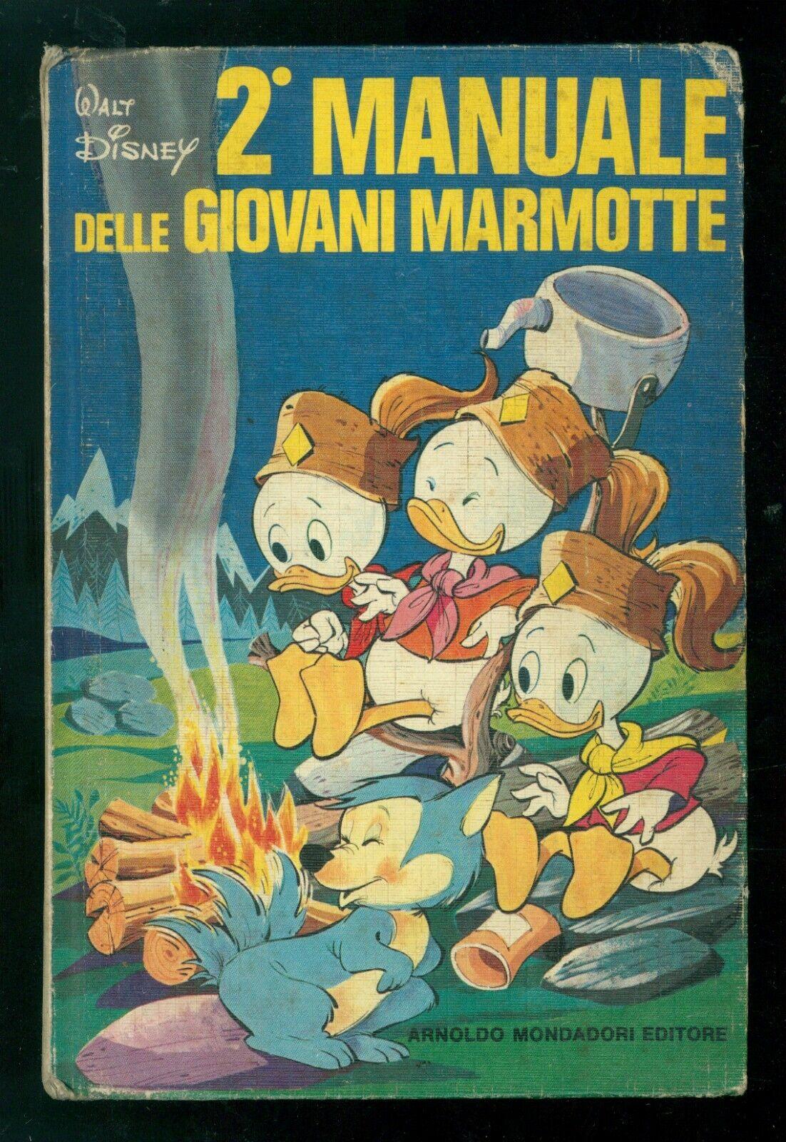 WALT DISNEY 2° MANUALE DELLE GIOVANI MARMOTTE MONDADORI 1975 PRIMA EDIZIONE