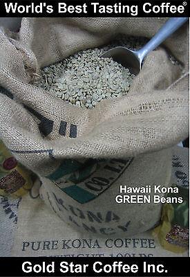 10 lbs - 100% Hawaii - Hawaiian Kona UNROASTED Na Coffee  - Extra Fancy Grade