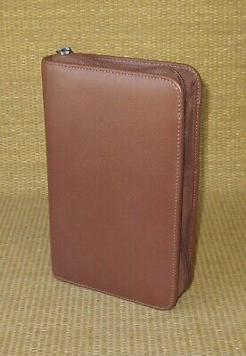 Portable Day-timer Brown Sim. Leather 1 Rings Plannerbinder Filofax Personal