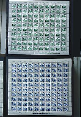 DDR Bogen Nr:3352 mit PF I + Nr:3344 PF I beide Postfrisch ungefalten tadellos