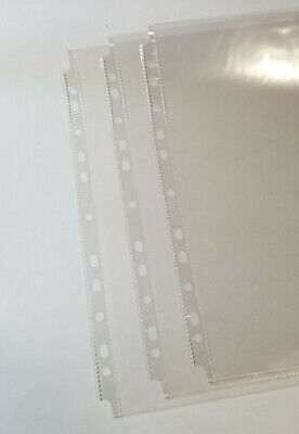 100 Pcs 11 Hole Clear Sheet Protectors 8.5x11 Bs Top Loading Fit All Binders