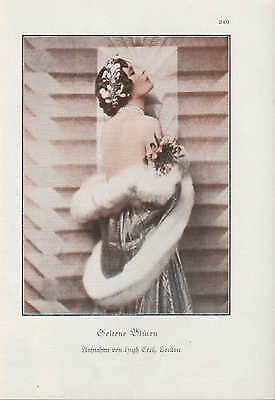 Werbung 1928 Bildnis Porträt Fotografie Seltene Blüten - Hugh Cecil, LONDON