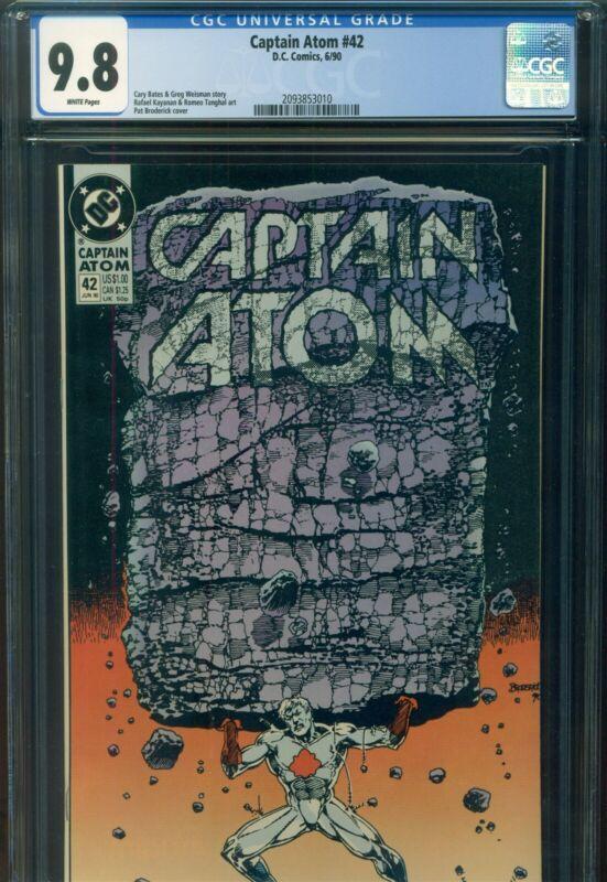 CAPTAIN ATOM #42 CGC 9.8 NM/MT DC Comic 1st DEATH from SANDMAN in DCU Continuity