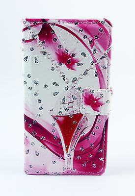iPhone 5G Case Flip Cover Etui Tasche pink rosa Strass Schmuck (Iphone Schmuck)