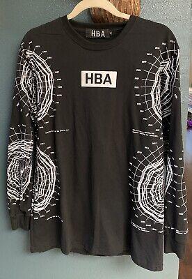 """HBA Hood By Air Long Sleeve """"Intellect"""" Pull Over Shirt Sz XL"""