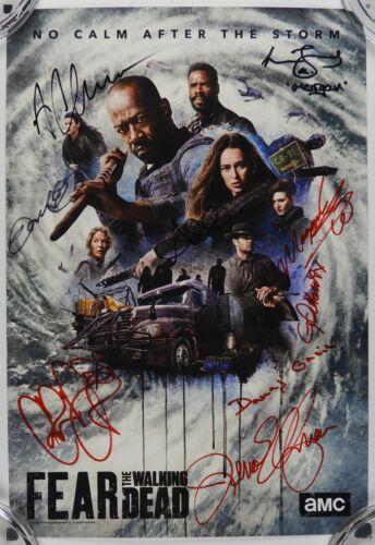 Fear The Walking Dead Cast Autograph Signed Photo JSA 11x14 SDCC Poster