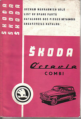 Skoda Octavia Combia Original illustrated Spare Parts Catalogue 1970-71