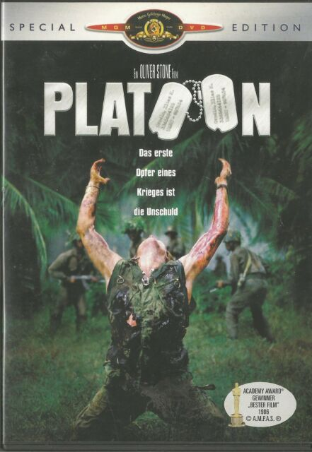 Platoon (Special Edition) Tom Berenger, Charlie Sheen, Willem Dafoe / DVD #2768