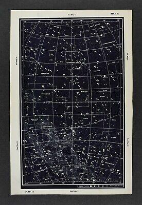 1961 Gall & Inglis Star Map Equator Draco Antares Scorpius Corona Borealis