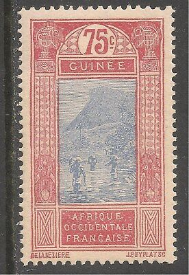 French Guinea #91 (A6) VF MNH - 1913 75c Ford at Kitim