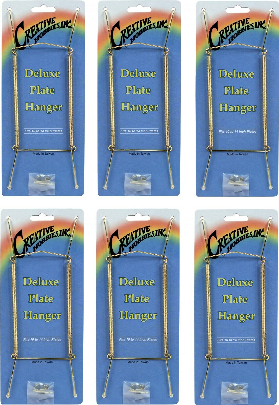 Gold Plate Display Hangers, Spring Type,Hold 10 to 14 Inch Plates -Pack of 6 Crafts