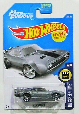 Hot wheels 2017 fast & furious ice charger silver gray #266 / 365 htf