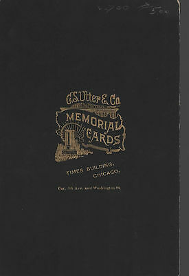 Cabinet Memorial / Funeral Card LAVINIA SMILEY Family-1895-Chicago