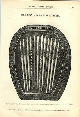 1894 PAPER AD 4 PG F T Pearce Fountain Pen Store Display Trays