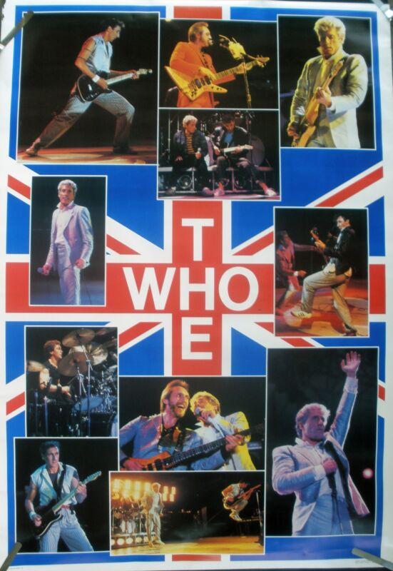RARE THE WHO 1983 VINTAGE ORIGINAL BIG DOOR SIZE MUSIC POSTER